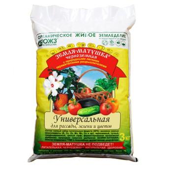 Земля универсальная для рассады, зелени и цветов, 3 кг