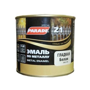 Эмаль PARADE Z1 по металлу гладкая, белый (0,45 л)