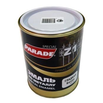 Эмаль PARADE Z1 по металлу гладкая, белый (0,75 л)