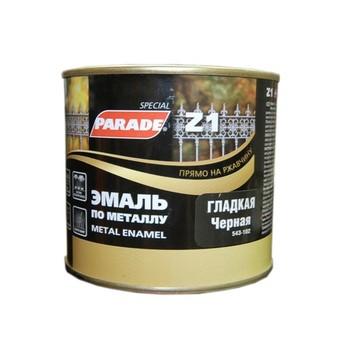 Эмаль PARADE Z1 по металлу гладкая, черный (0,45 л)