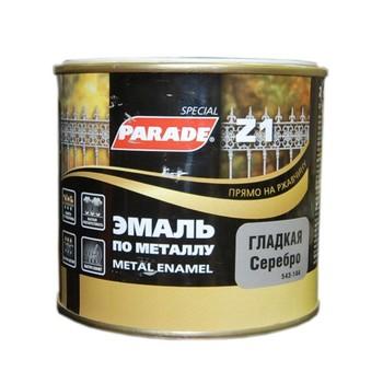 Эмаль PARADE Z1 по металлу гладкая, серебрянный (0,45 л)