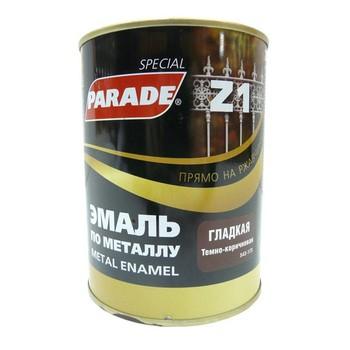 Эмаль PARADE Z1 по металлу гладкая, темно-коричневый (0,75л)
