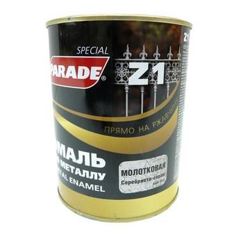 Эмаль PARADE Z1 по металлу молотковая, сереб.-серый (0,75 л)