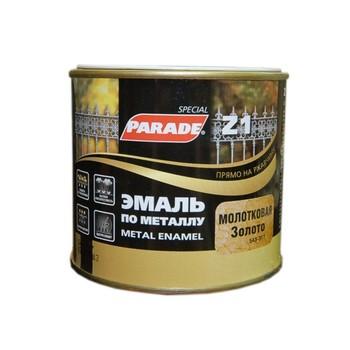 Эмаль PARADE Z1 по металлу молотковая, золотой (0,45 л)