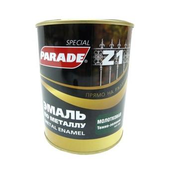 Эмаль PARADE Z1 по металлу молотковая, тем.-зеленый (0,75л)