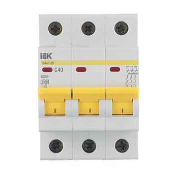 Автоматический выключатель трехполюсный 40А IEK