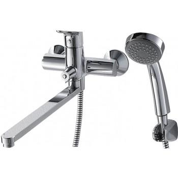 Смеситель Bravat Drop для ванны c длинным изливом с аксессуарами F64898C-LB