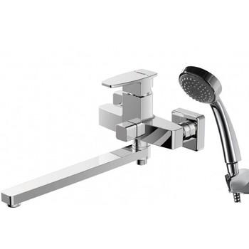 Смеситель Bravat Riffle для ванны c длинным изливом с аксессуарами F672106C-LB