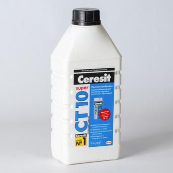 Пропитка Ceresit CТ10 гидрофобизирующая, 1л.