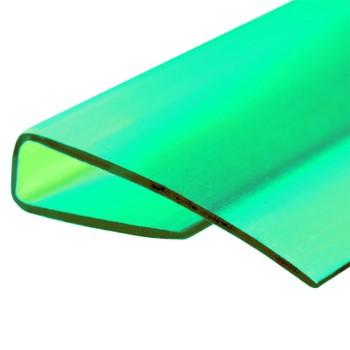 Профиль торцевой зеленый, 4мм х2,1м