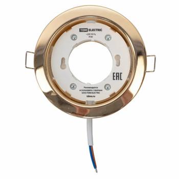 Светильник точечный GX53 220В золото