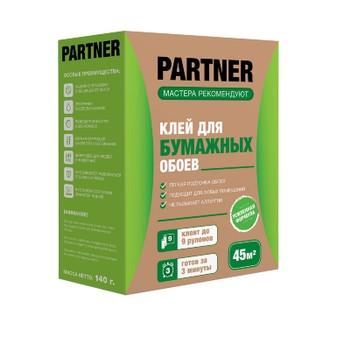 Клей обойный Partner 9 для любых бумажных обоев, 140гр (45м2)