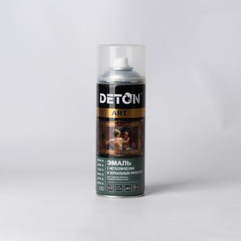 Эмаль аэрозольная DETON ART акриловая серебро, 0,52л