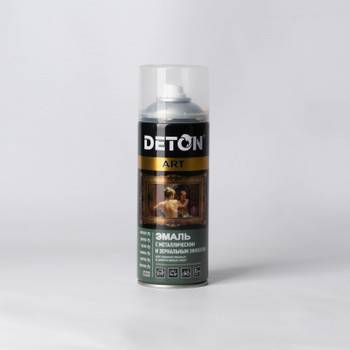Эмаль аэрозольная DETON ART акриловая алюминий, 0,52л