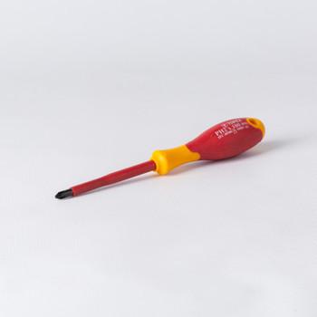 Отвертка Сr-V PH № 2-100мм с 2-компонентной ручкой намагниченный наконечник Т4Р