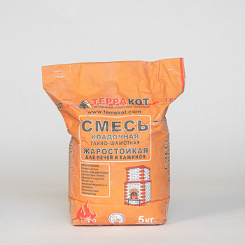 Кладочная смесь глино-шамотная для печей Терракот 5 кг