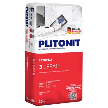 Затирка Плитонит 3 серая, 20кг. (шов 1-6мм)