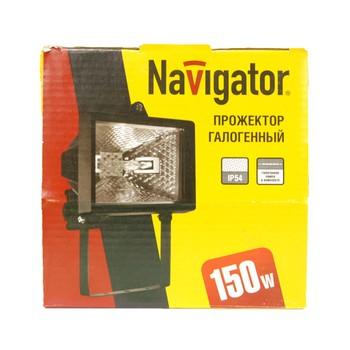 Прожектор галогенный черный с дугой крепления 150Вт NAVIGATOR