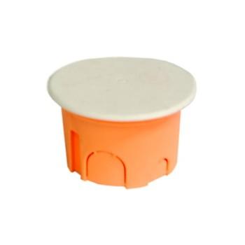 Коробка монтажная для подшт. монтажа,круглая.с крышкой, 68*47мм,400В SV-54923