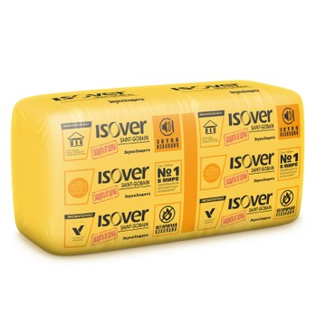 Утеплитель ISOVER ЗвукоЗащита 1170х610х100 мм 10 штук в упаковке