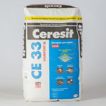 Затирка Ceresit CE 33 super серая, 25 кг