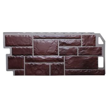 Панель фасадная камень коричневый 1,137х0,47м, Файн Бир