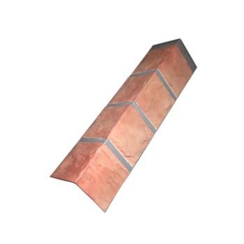 Угол наружный 0,115х0,47м камень терракотовый, Файн Бир (д/цок.сайдинга)