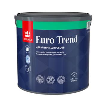 Краска Tikkurila Euro Trend для обоев и стен база А 2.7л