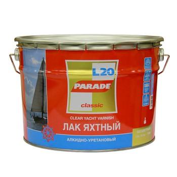 Лак яхтный алкидно-уретановый PARADE L20, матовый, 10л