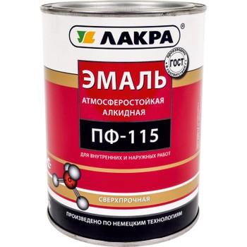 Эмаль ПФ-115 кофе с молоком гл. (1кг)(Лакра)