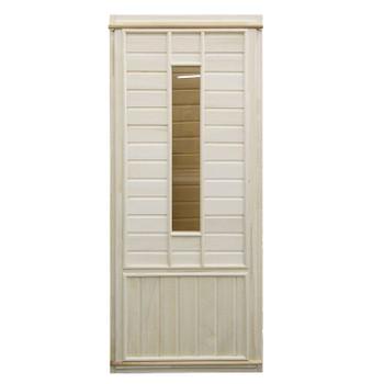 Дверь банная со стеклом (осина), 700х1700