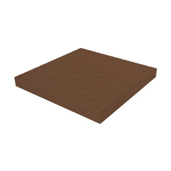 Плитка тротуарная Колодец коричневый (300x300x30)