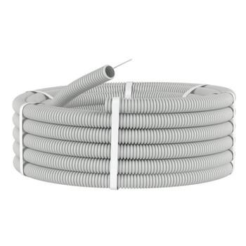 Труба ПВХ гофра d 16 с зондом (25 м)