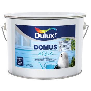 Краска для деревянных фасадов Dulux DOMUS AQUA полуматовая база BC, 9л