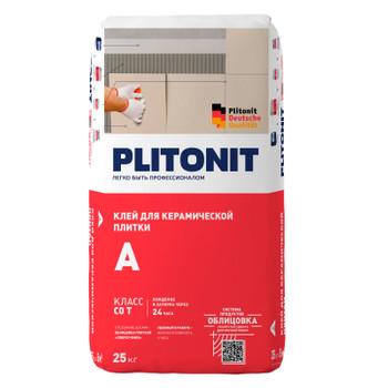 Клей для плитки (С0 Т) Плитонит А, 25 кг.