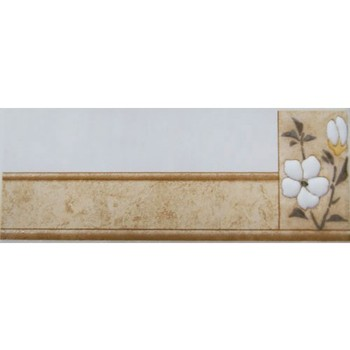Бордюр керамический Сакура 7х20 беж 515, Сокол