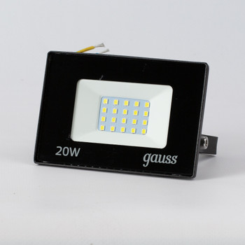 Прожектор светодиодный 20Вт 6500K IP65 черный
