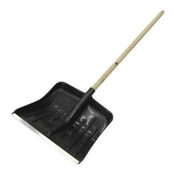 Лопата снегоуб. пластик. 40х42см с дер.черенком