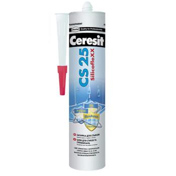 Затирка Ceresit CS25 эластичная силиконовая (кирпичная), 280 мл