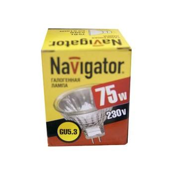 Лампа галогенная 75Вт GU5.3 230V NAVIGATOR