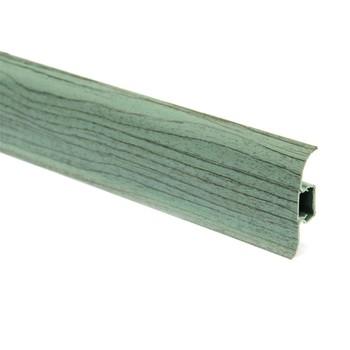 Плинтус пластиковый Т-пласт 069, Изумруд/Вишня зелёная 58х22х2500 мм