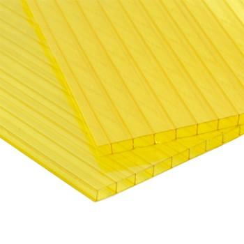 Сотовый поликарбонат, желтый 4 мм (2,1мх12)