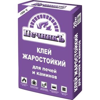 Клей для облиц. печей и каминов ПечникЪ (+250 С), 20 кг