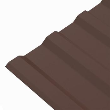 Профнастил МП-20 1100*2000 (ПЭ-01-8017-0,5мм)шоколад Вариант А