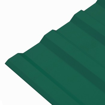 Профнастил МП-20 1100*6000 (ПЭ-01-6005-0,5мм) зеленый мох Вариант А