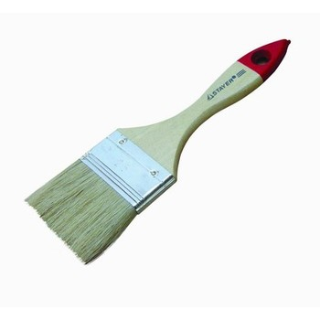 Кисть плоская 50 мм светлая натуральная щетина, деревянная ручка, Хобби, Т4Р