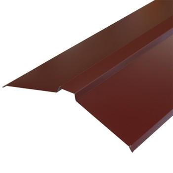 Планка конька плоского 150х150х2000 (ПЭ-01-3005-ОН) красное вино