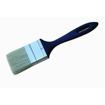 Кисть плоская #2,5 (63мм) для эмалей и олифы PROFI светлая натур. щетина, пластмассовая ручка