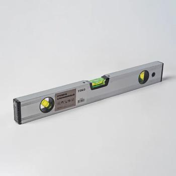 Уровень 80 см алюминиевый магнитный 3 ампулы Yoko