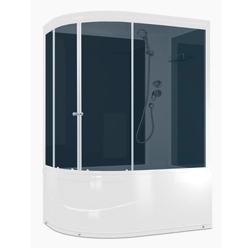 Душевая кабина Domani-Spa Delight 120x80 high асимметричная правая (4140769)